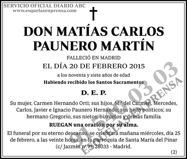 Matías Carlos Paunero Martín